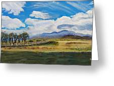 A Cloudy Day On Antelope Island Greeting Card