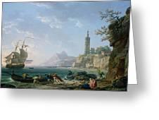 A Coastal Mediterranean Landscape Greeting Card