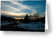 A Cold Sunset Greeting Card