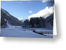 A Cold Winter Day Greeting Card
