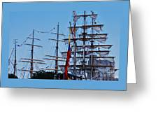 A Collection Of Masts In Baltimore Greeting Card