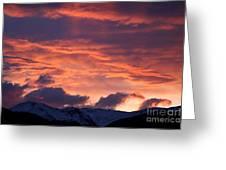 A Colorado Sunrise Greeting Card