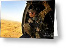 A Combat Rescue Officer Conducts Greeting Card