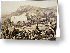A Convoy Of Wagons Greeting Card