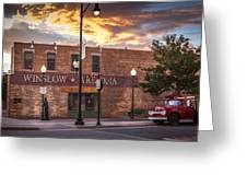 A Corner In Winslow Arizona Greeting Card