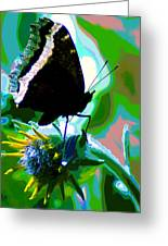 A Cosmic Butterfly Greeting Card