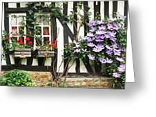 A Cottage In Normandy Greeting Card