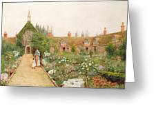 A Country Garden At Bray, Berkshire Greeting Card