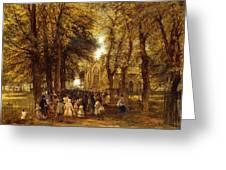 A Country Wedding Greeting Card by Charles Thomas Burt