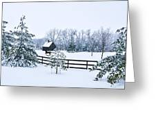 A Country Winter Greeting Card