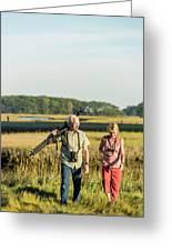 A Couple Bird Watching On A Salt Marsh Greeting Card