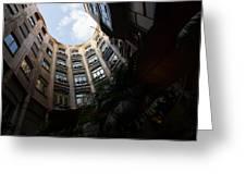 A Courtyard Curved Like A Hug - Antoni Gaudi's Casa Mila Barcelona Spain Greeting Card