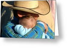 A Cowboy's Love Greeting Card