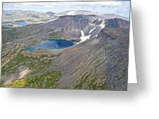 A Crater Lake From The Seaplane In Katmai National Preserve-alaska  Greeting Card