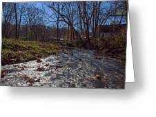A Creek Runs Though It Greeting Card