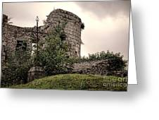 A Cross In The Ruins Greeting Card