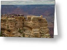 A Crowd And A Canyon Greeting Card