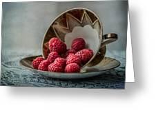 A Cupfull Of Raspberries Greeting Card