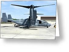 A Cv-22b Osprey On The Ramp At Hurlburt Greeting Card