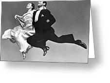A Dance Team Does The Rhumba Greeting Card
