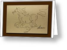 A Dancing Horse Greeting Card