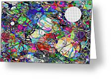 A Dash Of Abstract Imagery Greeting Card