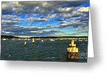 A Day At Oyster Bay Greeting Card