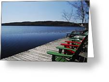 A Day At The Cottage Greeting Card