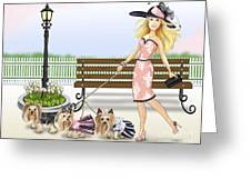 A Day At The Derby Greeting Card