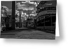 A Day At The Dock Greeting Card