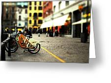 A Day In The City Greeting Card by Cole Black