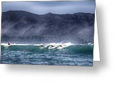 A Day In The Surf V3 Greeting Card