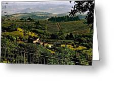 A Day In Tuscany Greeting Card