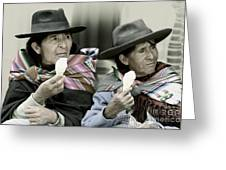 A Day Off In Tarabuco- Bolivia Greeting Card