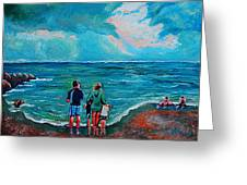 A Day On New Jersey Beach Greeting Card