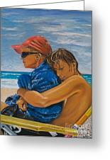 A Day On The Beach Greeting Card