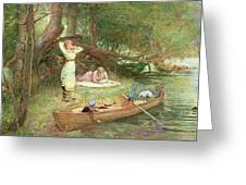 A Day On The River Greeting Card