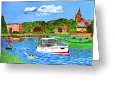 A Day On The River In Exeter Greeting Card
