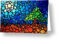 A Day To Remember - Mosaic Landscape By Sharon Cummings Greeting Card