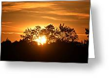 A Day's End Greeting Card
