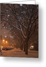 A December Night Greeting Card