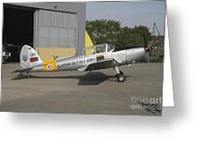 A Dhc-1 Chipmunk Trainer Aircraft Greeting Card
