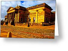A Digitally Converted Painting Of The Walker Art Gallery In Liverpool Uk Greeting Card