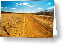 A Dirt Road In The Desert Greeting Card