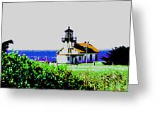 A Distant Light House Greeting Card