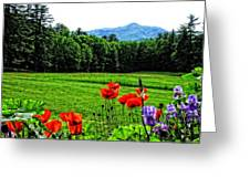 A Distant Mount Ascutney Greeting Card