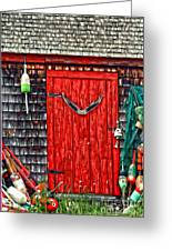 A Door In Maine Greeting Card