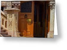 A Door In Monaco Greeting Card