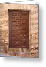 A Door In Toledo Greeting Card