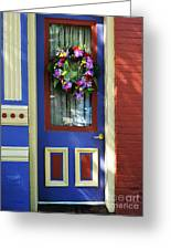 A Door Of Many Colors Greeting Card by Mel Steinhauer